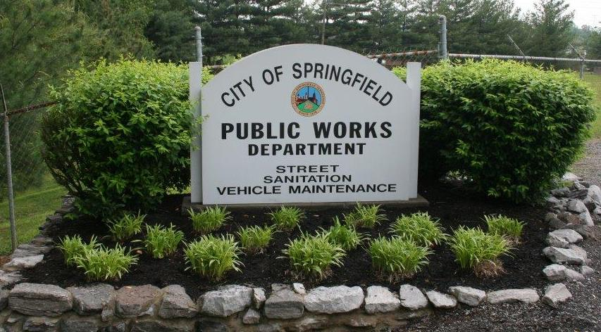 Public Works Entry Sign